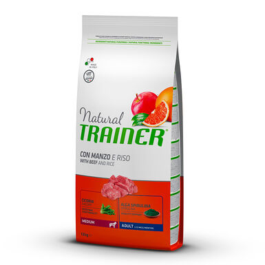 Natural Trainer Adult Medium ternera, arroz y ginseng