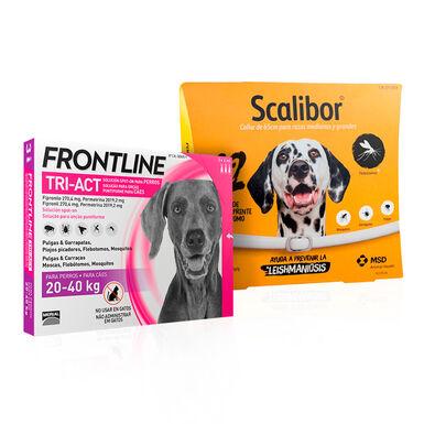 Scalibor 65cm + Frontline Tri-Act 20-40kg