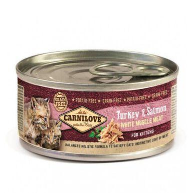 Carnilove Turkey & Salmon comida húmeda gatos baby