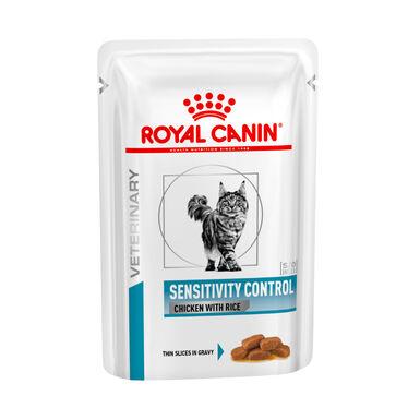 Pack 12 Pouches Royal Canin Veterinary Diet Feline Sensitivity Control pollo y arroz 85 gr
