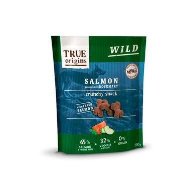 Snacks True Origins Salmón y Romero para perro 200 gr