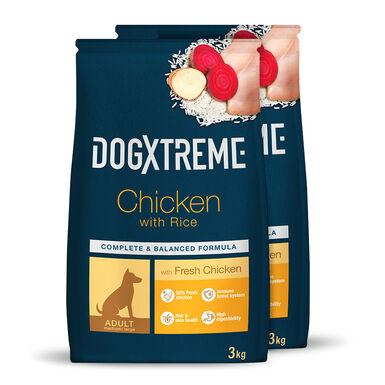 Dogxtreme Adult pollo y arroz - 2x3 kg Pack Ahorro