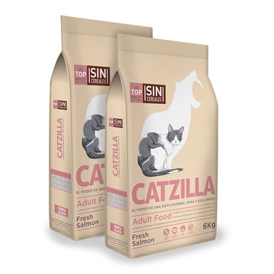Catzilla Grain Free Salmón - 2x6 kg Pack Ahorro