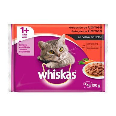 Whiskas 4x100 gr Comida húmeda para gatos adultos