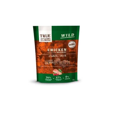 True Origins Snack para gatos pollo y romero