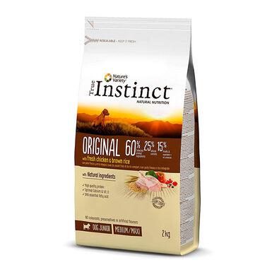 True Instinct Original Medium/Maxi puppy con pollo y arroz integral