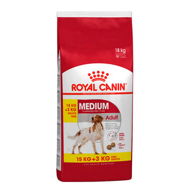 Royal Canin Medium Adult 18 kg (15kg + 3 kg gratis)