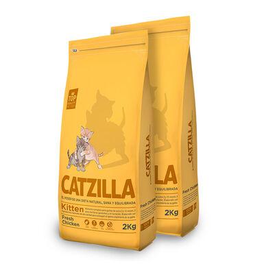 Catzilla Kitten pollo - 2x2 kg Pack Ahorro