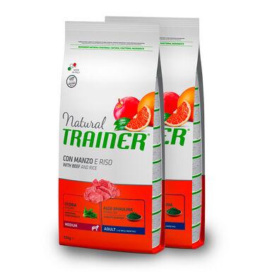 Trainer Natural Adult Medim Ternera, Arroz y Ginseng - - 2x12 kg Pack Ahorro