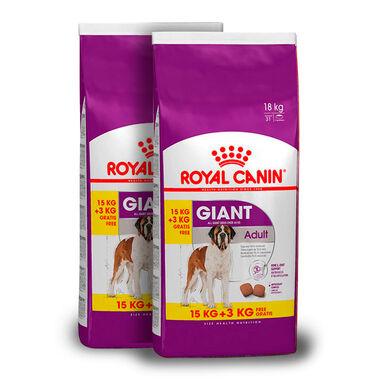 Royal Canin Giant Adult - 2x(15 kg+3 kg) Pack Ahorro