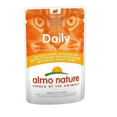 Almo Nature Daily pienso húmedo para gatos salmón