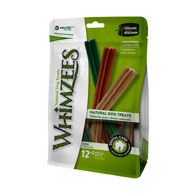 Snack natural en bolsa Stix de Whimzees para perros de varios tamaños
