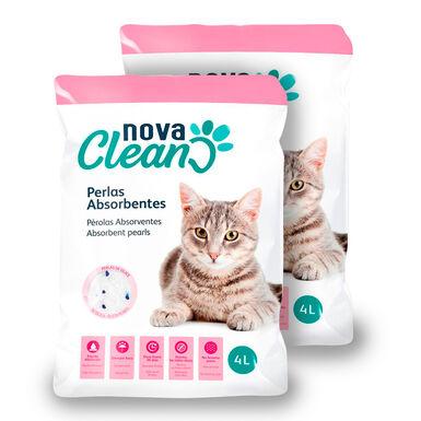 Perlas absorbentes Nova Clean para Gatos - 2x4 L Pack Ahorro