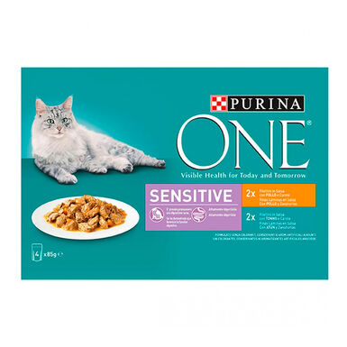 Purina One Wet Sensitive 4 x 85 gr