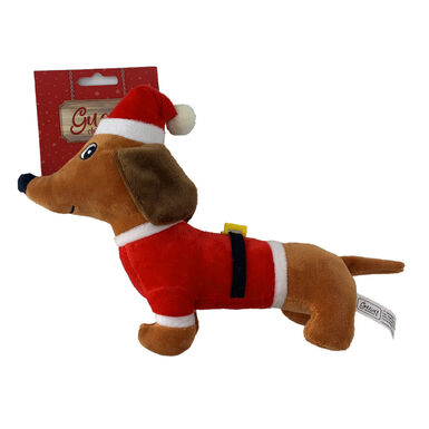 Juguete perro salchicha de Guau Christmas para perro