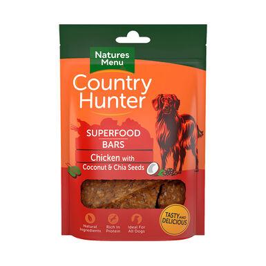 Snacks deshidratados Natures Menu Country Hunter pollo con coco y chía 100 gr
