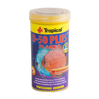 Tropical D-50 alimento para peces disco en escamas