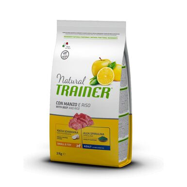 Pienso para perros Natural Trainer Adult Mini ternera, arroz y ginseng 2 kg
