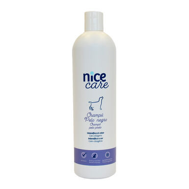 Champú Nice Care varios formatos para perros con pelo negro