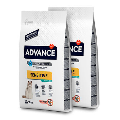 Affinity Advance Feline Sterilized Sensitive salmón y cebada - 2x10 kg Pack Ahorro