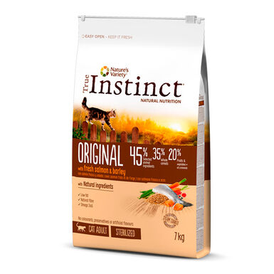 True Instinct Original Feline Sterilized Adult con salmón y cebada
