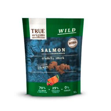 True Origins Snacks para gato salmón y arándanos