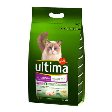 Affinity Ultima Feline Adult Sterilized Hairball Control pavo y cebada 1,5 kg