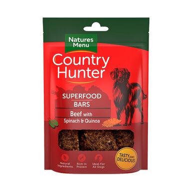 Snacks deshidratados Natures Menu Country Hunter ternera, espinacas y quinoa 100 gr