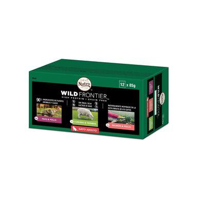 Nutro gato Wild Frontier Pouch 12 pack mixto