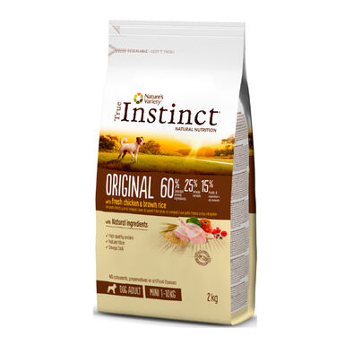 True Instinct Original Mini Adult con pollo y arroz integral