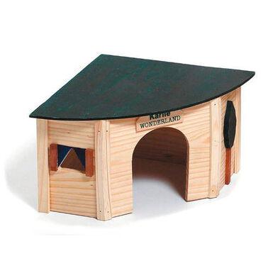 Flamingo madera casa refugio esquinero hámster