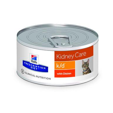 Hill's Feline Prescription Diet Lata k/d trocitos de pollo