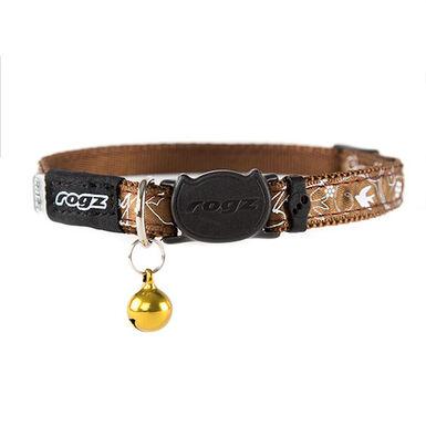 Rogz Silkycat collar para gato marrón con letras