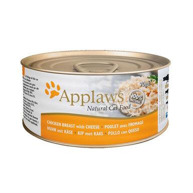 Pack 24 latas Applaws Cat Pollo con Queso lata comida húmeda para gato 70gr