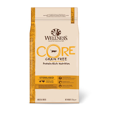 Wellness Core Feline Sterilised pollo y pavo - 2x1,75 kg Pack Ahorro