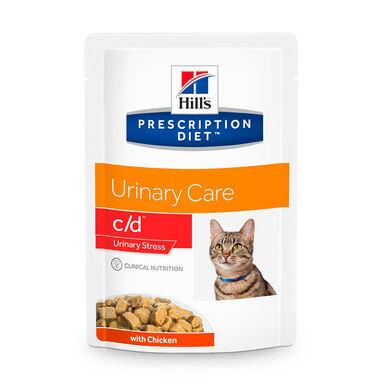 Pack 12 Sobres Hill's Feline Prescription Diet c/d Urinary Stress pollo 85 gr
