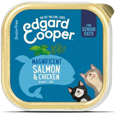 Edgard & Cooper Senior Pollo y Salmón para gatos
