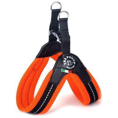 Tre Ponti acolchado naranja arnés para perros