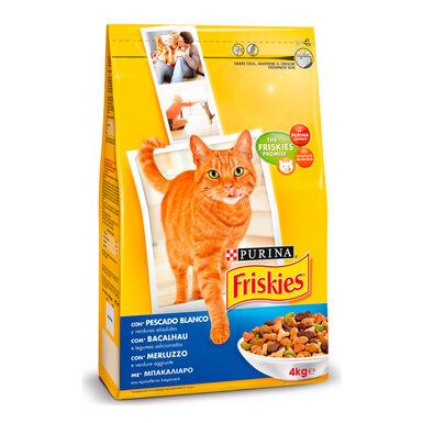 Friskies Feline Adult Bacalao, Trucha y Verduras 4 kg