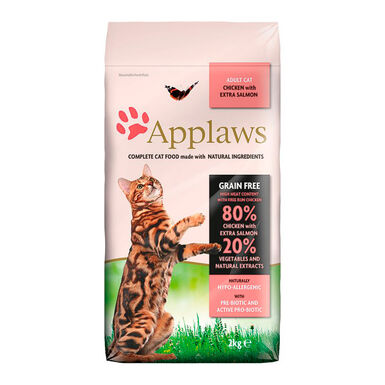 Applaws Feline Adult Grain Free salmón y pollo 7,5kg