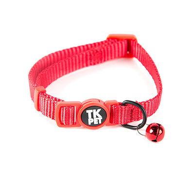 TK-Pet Classic Nylon collar gato con cascabel rojo