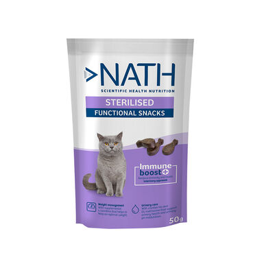 Snack para gatos Nath Adult Sterilised 50 gr