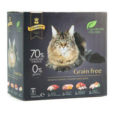 Multipack Criadores Grain Free húmedo 8x4 recetas