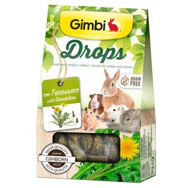 Gimbi Drops de diente de león snack para roedores