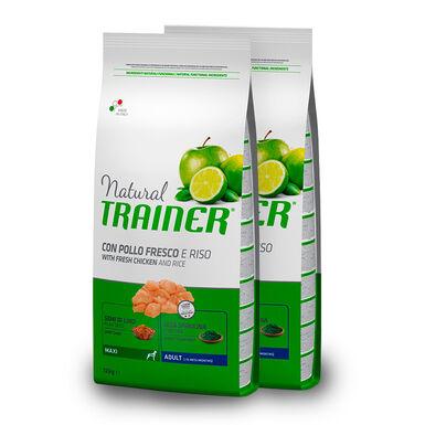 Trainer Natural Adult Maxi Pollo, Arroz y Aloe Vera - 2x12,5 kg  Pack Ahorro