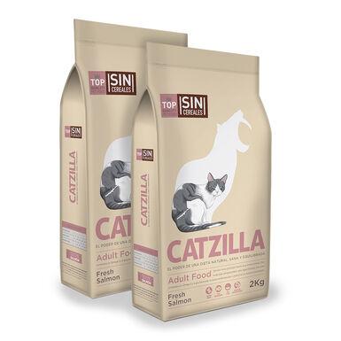 Catzilla Grain Free Salmón - 2x2 kg Pack Ahorro