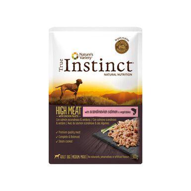 Sobres comida húmeda True Instinct High Meat para perro 300 g