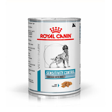 Pack 12 Latas Royal Canin Lata Veterinary Diet Sensitivity Control pollo y arroz 420 gr
