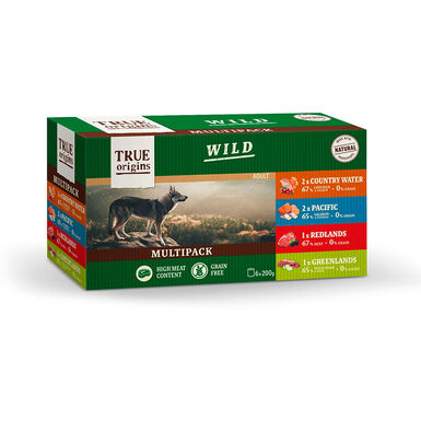 True Origins Wild Multipack 6 uds. 200 gr