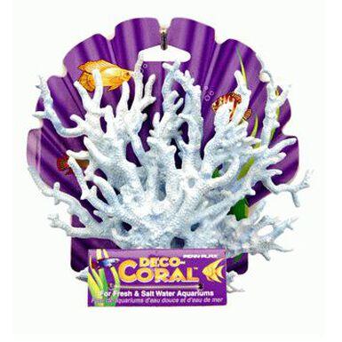 Penn Plax decoración acuarios coral azul y blanco